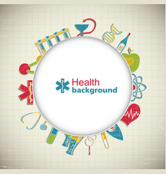 Medical paper style background vector