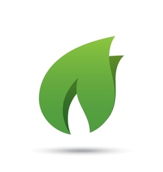 Eco icon green leaf  eco logo vector