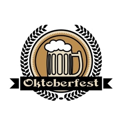 Oktoberfest beer icon or label vector