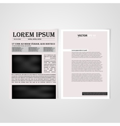 Flyer template back and front design vector image