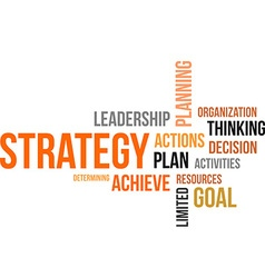 Word cloud strategy vector