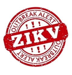 Red and white zika virus stamp vector