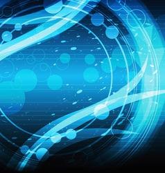 blue motion background design vector image