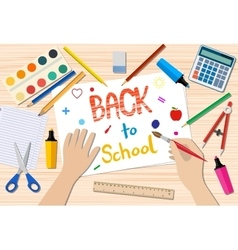 Back to school drawing vector
