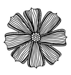 Beautiful monochrome gerbera flower vector
