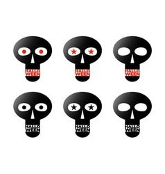 Black skulls vector image