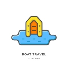 Boat travel concept vector image vector image
