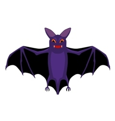 cartoon isolated flying halloween bat vector image