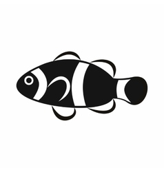 Cute clown fish icon simple style vector