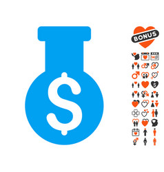 Financial alchemy icon with lovely bonus vector