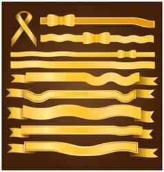 Gold ribbon and bow vector