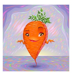 Hello my name is carrot vector
