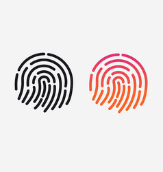 id app icon set fingerprint for vector image vector image