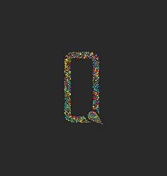 Letter Q of colorful circle design logo graphic vector image
