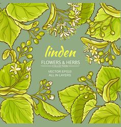 Linden frame vector