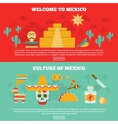 Mexican banners set vector