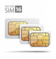 NanoMicroSimSet03 vector image vector image