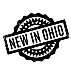 New in ohio rubber stamp vector