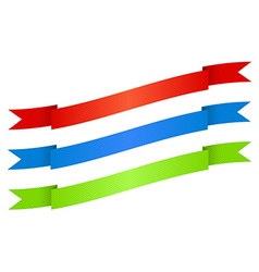 red blue green ribbons with texture vector image vector image