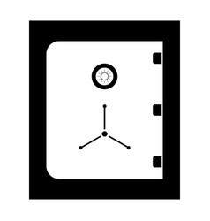 Safe the black color icon vector