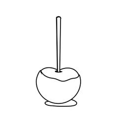 Sweet apple of fair food design vector
