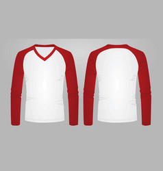 Two color long sleeve t shirt vector