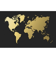 World map gold earth blank empty globe vector image vector image