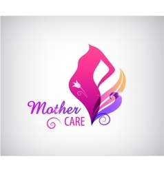 pregnancy logo pregnant woman silhouette vector image