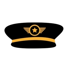 Pilot plane hat uniform vector