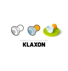 Klaxon icon in different style vector