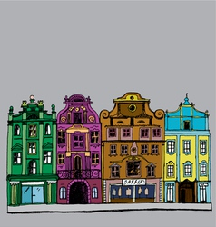 buildings colorful vector image