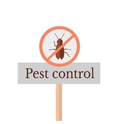 Pest control sign vector