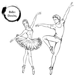 Dance line ballet vector