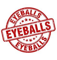 Eyeballs red grunge stamp vector
