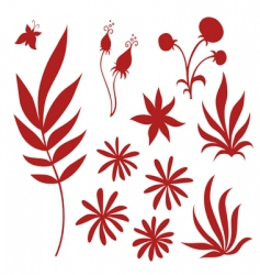 different flourishes vector image