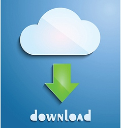 Cloud downloading icon vector