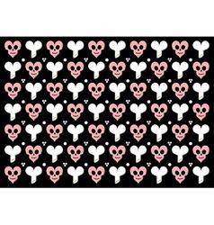 Emo gothic valentine wrapper vector