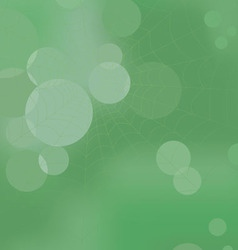 Web in the wood on a green abstract background vector