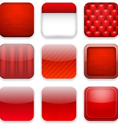 Red app icons vector image