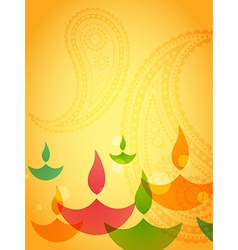Coloful diwali design vector