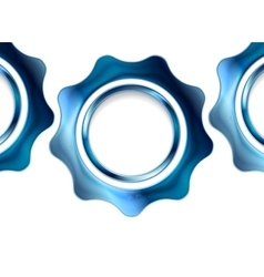 Blue metal gears on white background vector