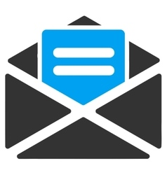 Open mail icon from business bicolor set vector