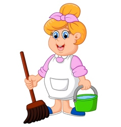 Housewife cartoon vector