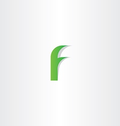 Logo f green letter f icon sign design vector