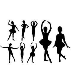 ballet girls vector image