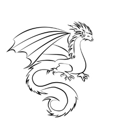 Stylized image of Dragon vector image