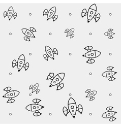 Simple pattern space rocket shuttle spaceship vector