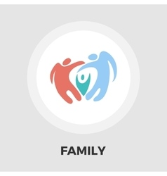 Family flat icon vector