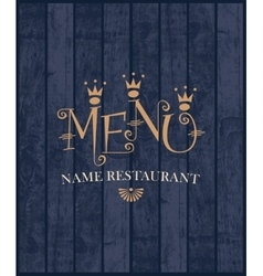 Menu with wood texture vector