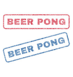 Beer pong textile stamps vector